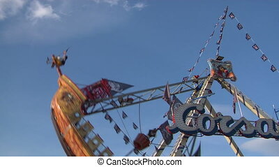 pirate ship 01 - Fairground attractions at amusement park