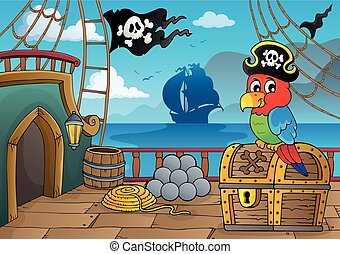 Pirate ship deck thematics 2 - eps10 vector illustration.