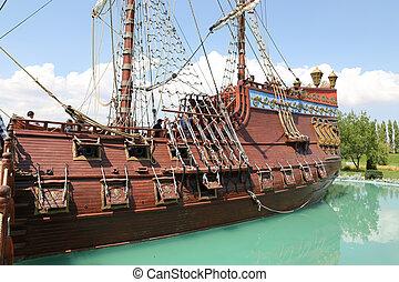 Pirate Ship in Sazova Science, Art and Cultural Park in...
