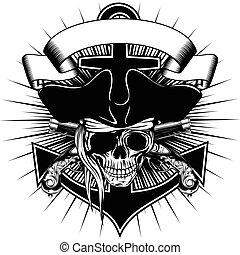 Pirate sign skull
