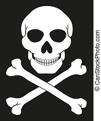 pirate skull and crossbones illustration