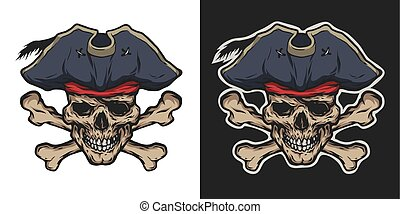Pirate Skull and Crossbones. - Pirate Skull and Crossbones...