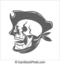 Pirate Skull and hat
