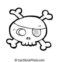 pirate skull cartoon