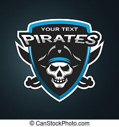 Pirate Skull  emblem.