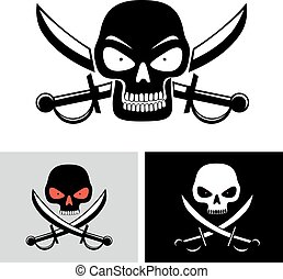 pirate skull flag symbol