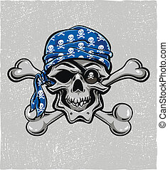 Pirate Skull. Hand drawn. Vector eps8 - Skallywag Pirate...