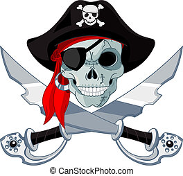 Pirate Skull - Pirate Skull and crossed sables
