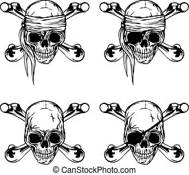 Pirate skull set