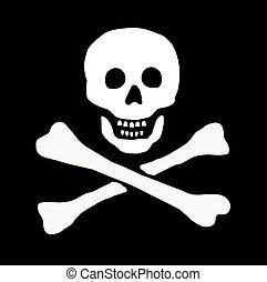 pirate skull sign