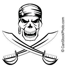 pirate skull sword