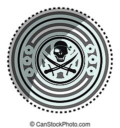pirate skull symbol icon