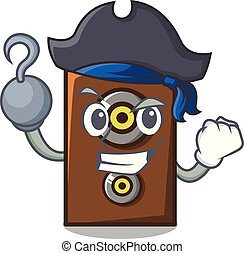 Pirate speaker character cartoon style