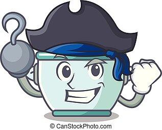 Pirate steel pot character cartoon
