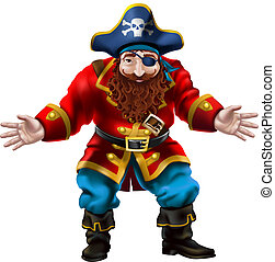 Pirate, the jolly sailor - Illustration of a pirate...