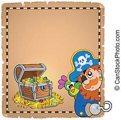 Pirate theme parchment 8