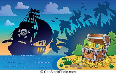 Pirate theme with treasure chest 6
