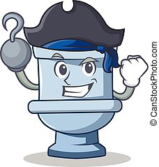 Pirate toilet character cartoon style