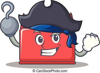 Pirate tool box character cartoon