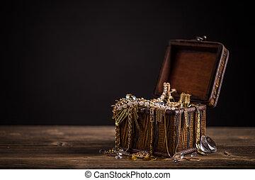 Pirate treasure chest - Small pirate treasure chest on...