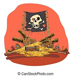 Pirate treasure vector illustration