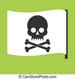 Pirate vector flag