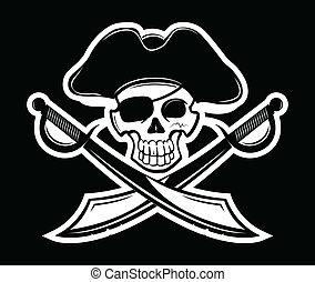 Pirate - Vector illustration of pirates symbol.