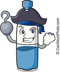 Pirate water bottle character cartoon