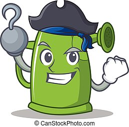 Pirate watering can character cartoon