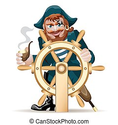 Pirate with a steering wheel