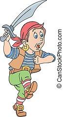Pirate with cutlass