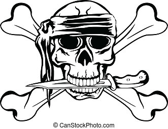 pirate with dagger - Vector image pirate with dagger and...