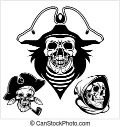 Pirate with pirate hat and pipe