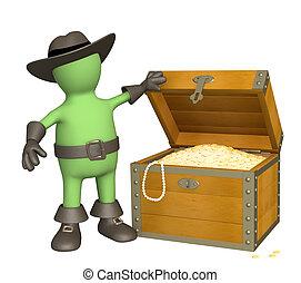 Pirate with treasure