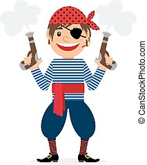Pirate with two pistols