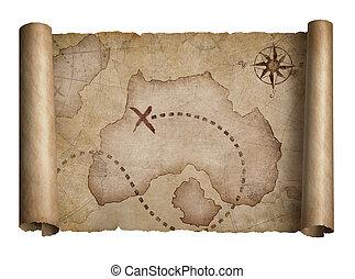 piraten, kaart