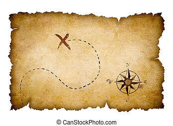 piraten, schatzkarte