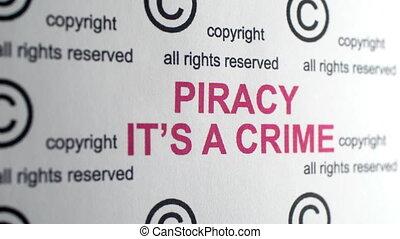 piraterie, symbole, il, droit d'auteur, crime
