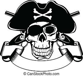 piraterie, totenschädel