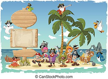pirates., cartone animato