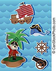 Pirates Cartoon for your design