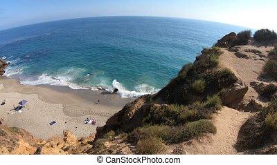 Pirates Cove Malibu - Aerial view of Pirates Cove, a hidden...