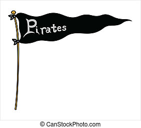 Pirates Flag - Vector Illustration