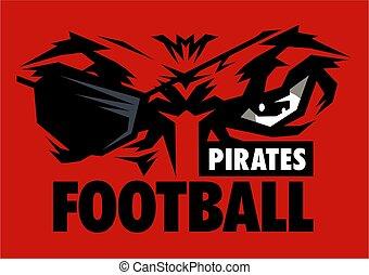pirates football team design with mascot eye black and eye ...