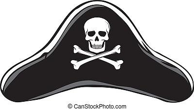 (pirate's, hat), hut, pirat, schwarz