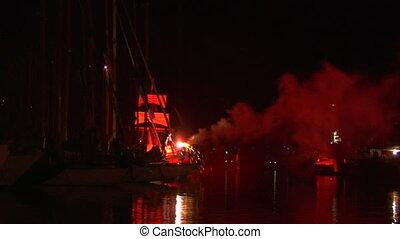 pirates landing 01 - Pirate landing representation during...