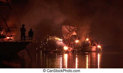 pirates landing 04 - Pirate landing representation during...