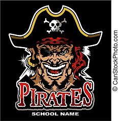 pirates mascot team design for school, college or league