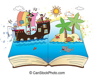 pirates on the book