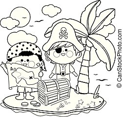 Treasure Island Coloring Pages - Get Coloring Pages | 179x192